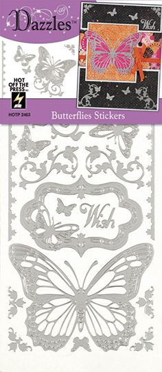 DRAGONFLIES /& FLOWERS Peel Off Stickers Flourish Leaves Border Gold or Silver