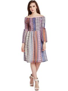 Purple Printed A- Line Dress Cute Short Dresses, Nice Dresses, Dresses For Work, Summer Dresses, Online Shopping For Women, Womens Fashion Online, Fit And Flare, New Dress, Dresses Online