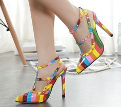 Rainbow Wonder High Heels