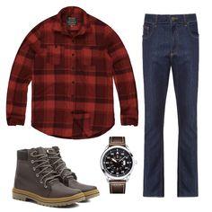 Combo lenhador, look masculino com camise xadrez, bota de cano curto marrom e calça jeans