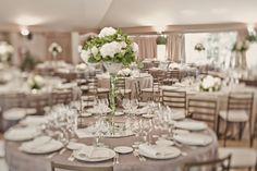 Decoración de Bodas - Centros de mesa con hortensias - Organización de Bodas