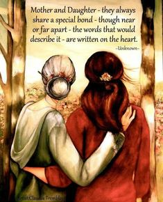 "Mother and Daughter ""Our Walk"" ~ Claudia Tremblay … Mother Daughter Quotes, Daughter Love, Mother And Child, Mother Daughters, To My Mother, Claudia Tremblay, Grands Parents, Illustration Mode, My Beautiful Daughter"