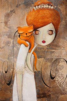 Foto Fantasy, Fantasy Art, Arte Pop, Art And Illustration, Cat Drawing, Painting & Drawing, Art Des Gens, Pop Art, Images D'art
