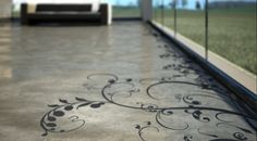 If It's Hip, It's Here: Industrial Floors With Flourish: Concrete Art By Transparent House