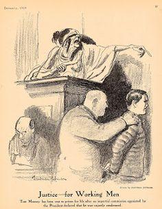 A Man of Family: Liberator Magazine Art, Jan 1919, page 13, political cartoon, artist: Boardman Robinson