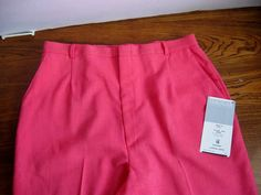 Vintage Bubble Gum Pink Pants by Haggar size 18