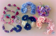Awesome new flower crowns just in from Miss Leigh! Even mini ones to go around your bun!