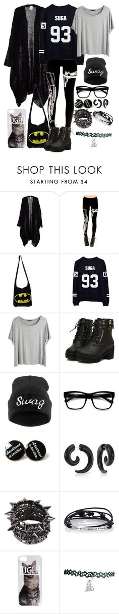 """Suga Sweater"" by minyxxngi ❤ liked on Polyvore featuring Chicnova Fashion, BASTARD, Retrò, Bling Jewelry, Footnotes Too, bts, BangtanBoys and Suga"