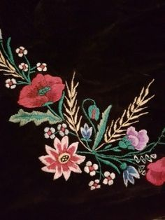 Detail of the embroidery on a woman's apron from Banat, Northern Serbia.