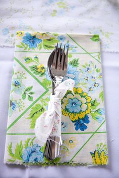 homemade vintage napkins