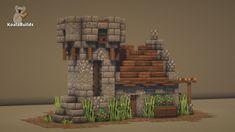 Minecraft Small Castle, Amazing Minecraft Houses, Casa Medieval Minecraft, Minecraft Farm, Minecraft Houses Survival, Minecraft House Tutorials, Minecraft Pictures, Minecraft Plans, Minecraft Construction