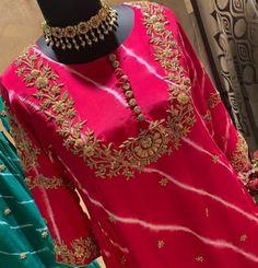 Embroidered Kurti, Kurtis, Beautiful Hands, Sari, Fashion, Saree, Moda, Fashion Styles, Fashion Illustrations