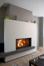 M-Design liftdeurhaard Luna Gold+ Linear Fireplace, Stove Fireplace, Fireplace Inserts, Modern Fireplace, Fireplace Mantle, Living Room With Fireplace, Fireplace Surrounds, Fireplace Design, Fireplace Ideas