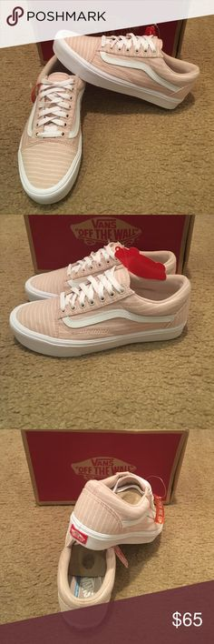 1b595a5191 Stripes Old Skool Lite Vans New in box. Sepia Rose true white Vans Shoes  Sneakers