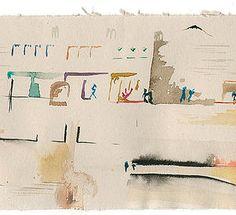 Melanie O'Brien | watercolor on newsprint | artwork original size 4205mm x 120mm University College Dublin, Woven Image, Artist, Design, Artists