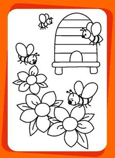 Colouring Pages, Coloring Books, Easter Stickers, Bee Party, Bullet Journal School, Cute Bee, Bee Theme, Bugs And Insects, School Themes