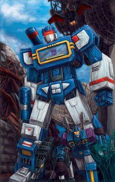 1984 Transformers. Soundwave & his microcassette Laserbeak, Ravage, Rumble