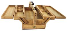 artists tool boxes | Details about Bamboo Multipurpose Supply Case , Large Artist Toolbox ...