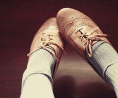 Classic pale shoes