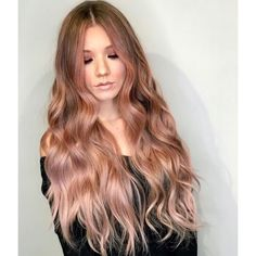 Rose gold hair Rose Gold Hair, Hair Dos, New Hair, Blond, Long Hair Styles, Beauty, Color, Ideas, Colors