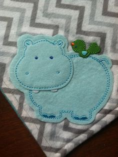 Chevron Hippo Cuddle Blanket by AhoyBabee on Etsy, $12.00