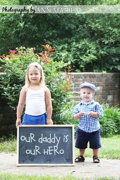 This would be a great photo to send to a spouse on deployment.