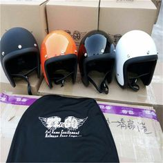 83.99$  Buy here - Motorcycle Helmet ECE certification  Brand Japan TT&CO Thompson Glass Fiber Vintage motorcycle helmet Harley motorcycle helmet   #SHOPPING