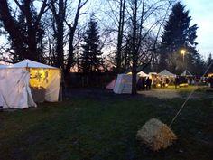 2. Advent 2015 - Historischer Weihnachtsmarkt an der Wasserburg in Erlensee - hier ein Teil das Marktgeländes