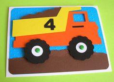 Camion à benne basculante anniversaire par DianesPaperParty sur Etsy