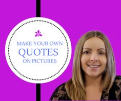 Ever wondered how people make those awesome quotes on pictures? Or just any flash image?   Well I'm going to share with you a secret...... I'm going to show you exactly how you can create your own AMAZING images!   Have a watch of the video over on my blog by clicking the link.
