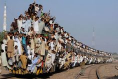 Not having a seat on the train or bus