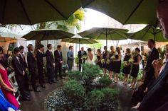 Ceremony, with umbrellas (March, 2013)