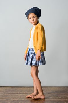loving checks these days. lemon cardie and head scarf don't hurt a bit either.  #estella #kids #fashion