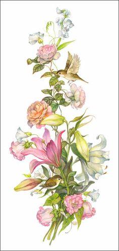 paintings of olga lonaytis - Art Floral, Watercolor Cards, Watercolor Flowers, Watercolor Paintings, Illustration Botanique, Illustration Blume, Botanical Flowers, Botanical Prints, Fabric Painting