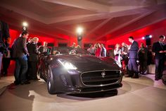 F-Type Jaguar launch in Brussels.