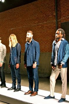 Loving the range of models' hair and beard styles at #NYFW presentation by Ovadia and Sons SS14   VeeTravels.com  #menswear #fashion #style #mbfw