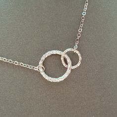 Eternity Circle Necklace, Mother & Child, Best Friends, Special Meaning Necklace, Gift Idea, Bridesmaids. $19.00, via Etsy.