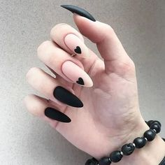 35 summer can also be recommended with Frosted nail style nails;bestnails Nails 35 summer can also be recommended with Frosted nail style Edgy Nails, Stylish Nails, Matte Nails, Swag Nails, Fancy Nails, Cute Black Nails, Long Black Nails, Nail Black, Grunge Nails