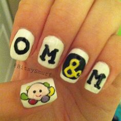 Of Mice & Men nail art Hair And Nails, My Nails, Band Nails, Music Nails, Lipstick Designs, Love Band, Of Mice And Men, Top Nail, Finger Painting