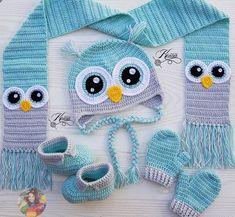 Monster Scarf pattern by JoAnne Grimm Thompson Crochet Kids Scarf, Crochet Owl Hat, Bonnet Crochet, Crochet Scarves, Crochet For Kids, Baby Boy Knitting Patterns, Baby Knitting, Crochet Patterns, Crochet Funny Hat