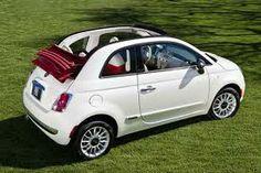a convertible---this one will do! (fiat 500 convertible)---white is nice :) Fiat 500c, Fiat 500 Cabrio, Fiat Cinquecento, Maserati, Lamborghini, Fiat Uno, Alfa Romeo, My Dream Car, Dream Cars
