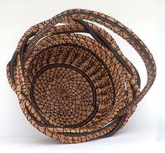 Spring Flower Girl Basket Pine Needle Basket by Heart Of Almanor Jan. 2015