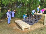 How to Build an Obstacle Course In this project, old tires are recycled into a fabulous backyard obstacle course.