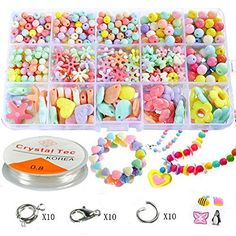 Pnbb Colorful Acrylic Beads Toy DIY Jewelry for Children Necklace and Bracelet Crafts - Style D About 584-piece Set ** Continue @ http://www.laminatepanel.com/store/pnbb-colorful-acrylic-beads-toy-diy-jewelry-for-children-necklace-and-bracelet-crafts-style-d-about-584-piece-set/?ab=250616104107
