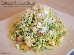 Brussels Sprouts Salad Recipe with Apples and Pecorino Romano