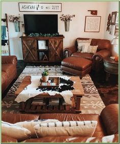 44 Awesome Farmhouse Living Room Makeover Decorating Ideas For Tried as Soon as … - Western Home Decor Living Room Western Living Rooms, Bohemian Living Rooms, Living Room Tv, Western Bedroom Decor, Western Bedrooms, Bedroom Rustic, Country Living, Living Room Decor Images, Living Room Designs