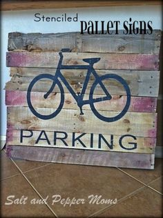 Easy to make DIY pallet wood signs for rustic home decor wall art @istandarddesign