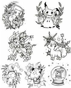 Looks like I found my first tattoo. I love those desi. - Looks like I found my first tattoo. I love those designs! Flash Art Tattoos, Future Tattoos, Love Tattoos, Body Art Tattoos, Pokemon Tattoo, Nintendo Tattoo, Gaming Tattoo, Tattoo Geek, Gamer Tattoos