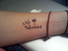 Love this...palm trees are just the thing to rid worry