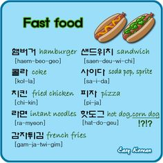 Basic Korean - Fast Food #korean #korea #learnkorean #koreanlanguage #studykorean #basickorean